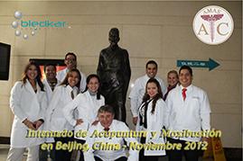 segunda sesion de fotos de grupo del curso de acupuntura en china
