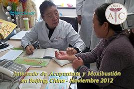 diagnostico por el pulso, sesiones practicas durante el curso de acupuntura en china