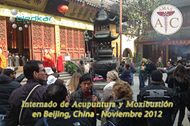 haciendo el recorrido en shanghai por un templo budista