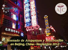 vista de la ciudad en la noche durante el curso de acupuntura