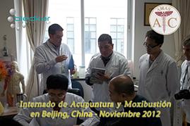 sesion de practicas en el hospital del internado de acupuntura