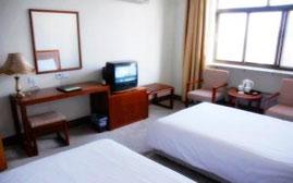habitaciones del hotel donde se hospedan los participantes al internado de acupuntura en china