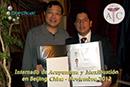 cetificado entregado por la academia china de ciencias medicas de la medicina tradicional china por el curso de acupuntura